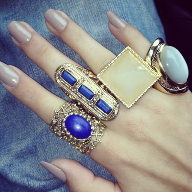 Bold Blue Gold Rings