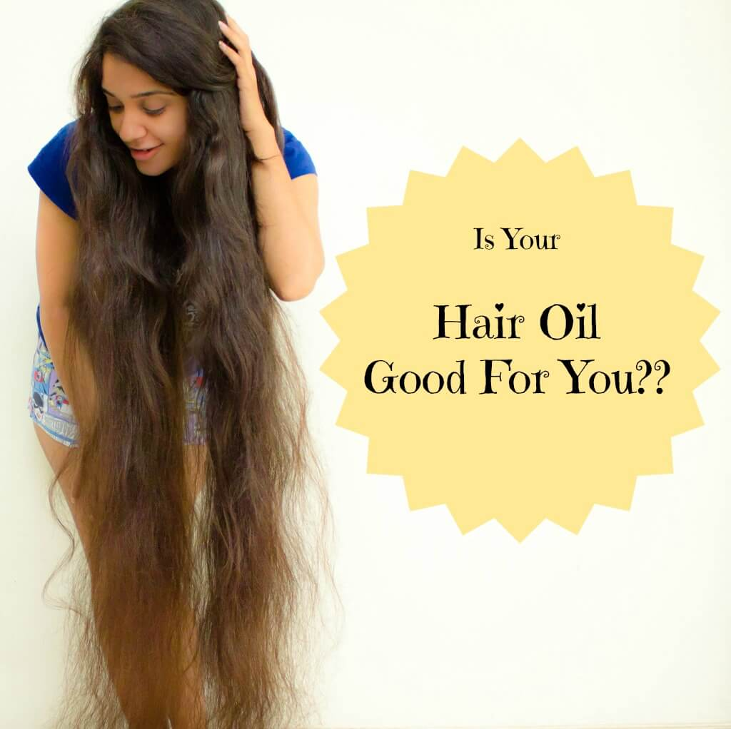 Girl Using Hair Oil