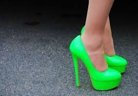 Green Neon Coloured Shoes