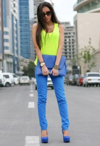 Neon Colour Combination of Yellow And Blue