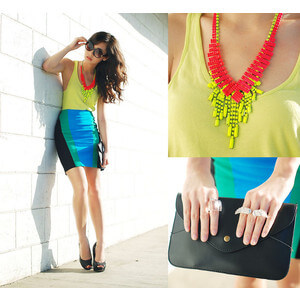 Neon Coloured Cold Necklace