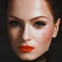 Dark Orange Lipstick