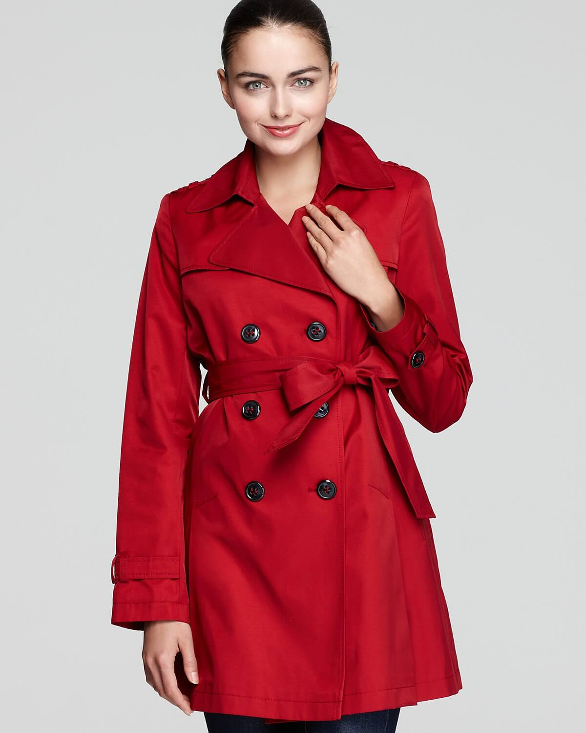 A double-breasted garment is a coat, jacket, or vest with wide, overlapping front flaps which has on its front two symmetrical columns of buttons; by contrast, a single-breasted item has a narrow overlap and only one column of buttons. In most modern double-breasted coats, one column of buttons is decorative, while the other is functional.