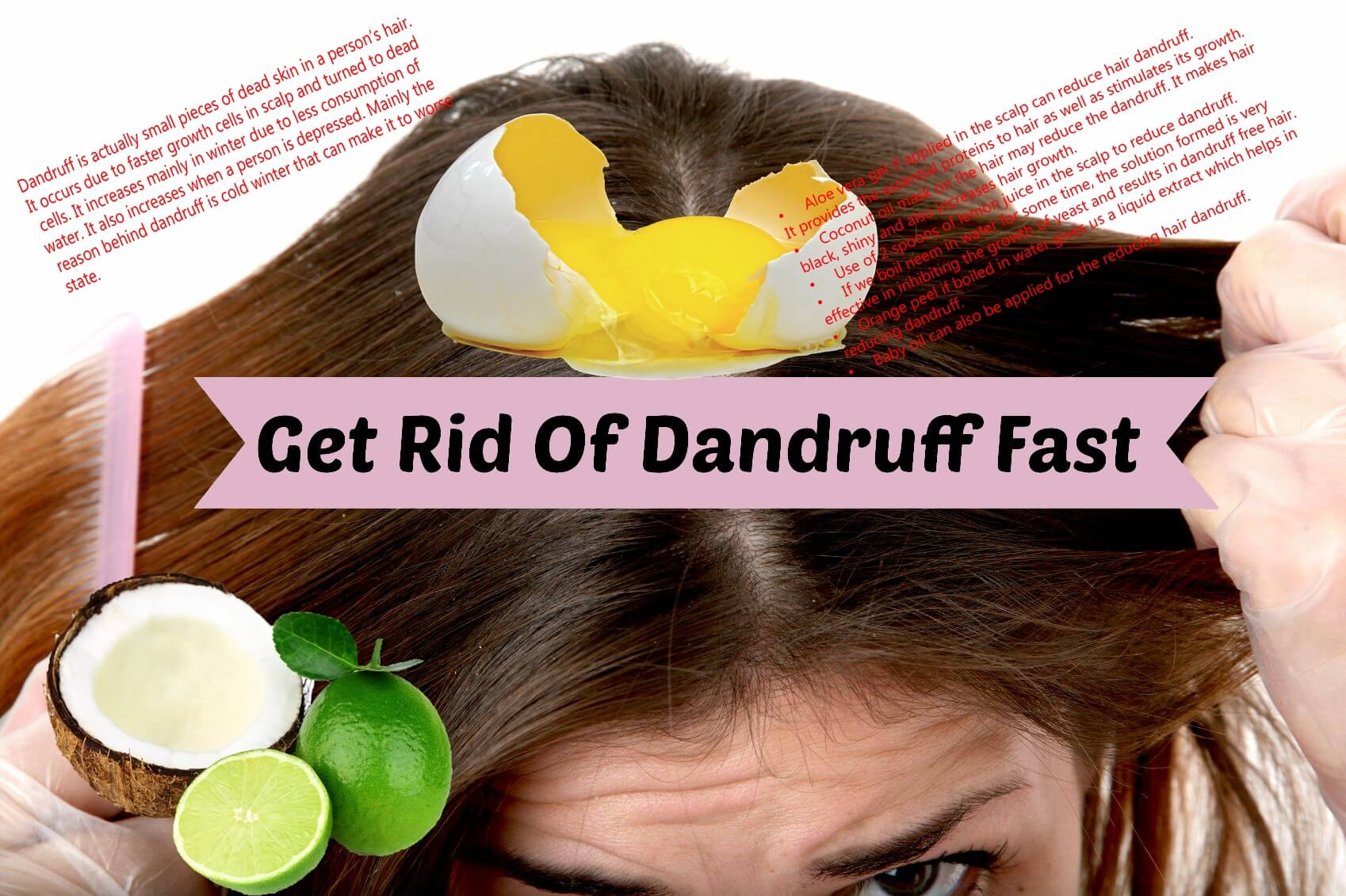 How to get rid of dandruff at home