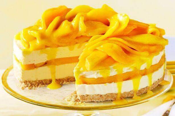Mango Coconut Birthday Cake Recipe
