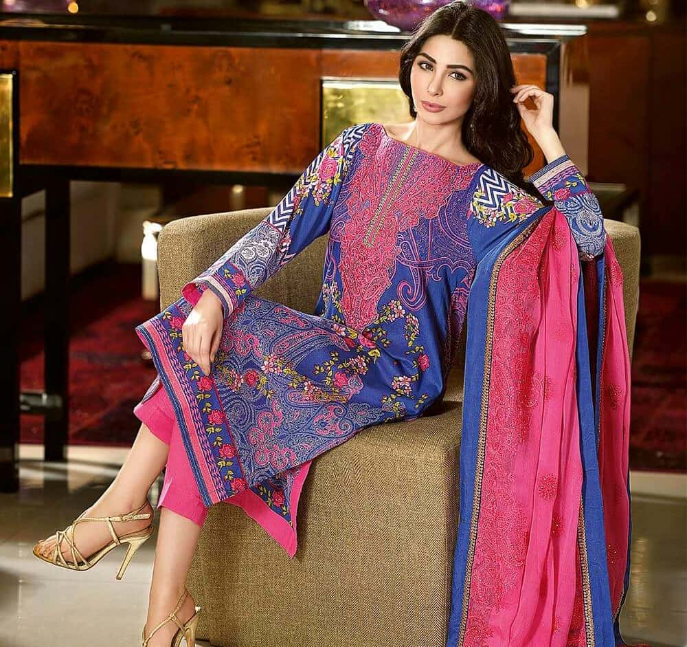 Buy Lawn Embroidered dresses for pakistani girls pictures trends