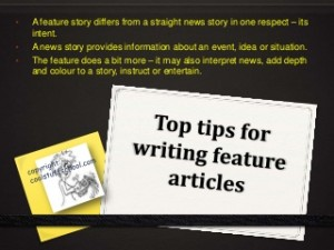 tips for fearture writing