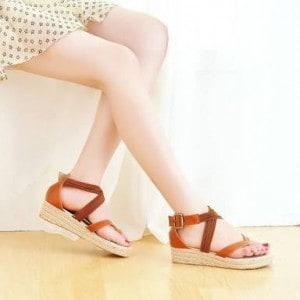 Wear slight high shoes