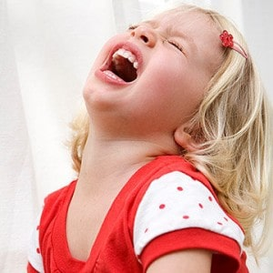 Control of the child Tantrums as soon as possible.